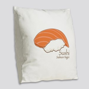 Salmon Nilgiri Burlap Throw Pillow