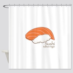 Salmon Nilgiri Shower Curtain