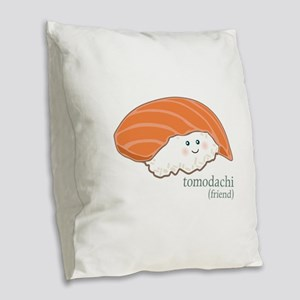 Tomodachi Burlap Throw Pillow