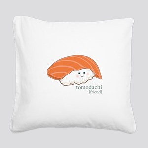 Tomodachi Square Canvas Pillow