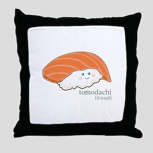 Tomodachi Throw Pillow