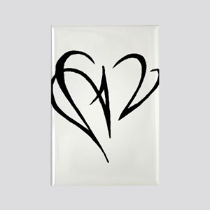 Heart Skewer Rectangle Magnet