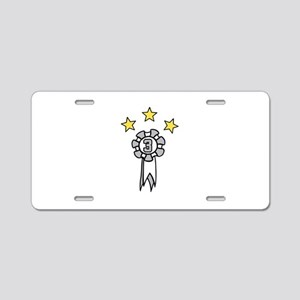 Third Place Stars Aluminum License Plate