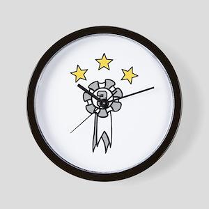 Third Place Stars Wall Clock