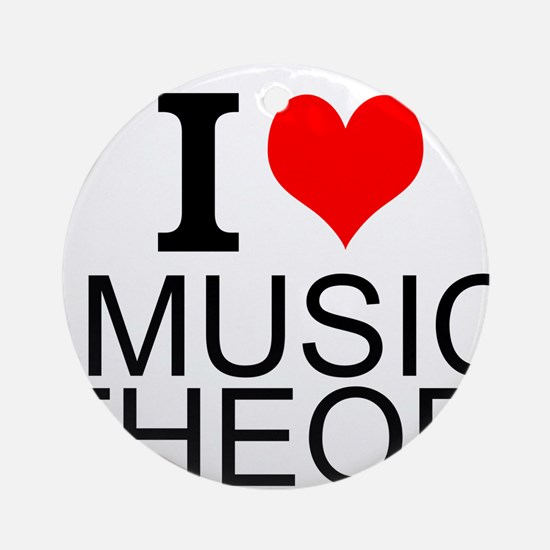 I Love Music Theory Ornament (Round)