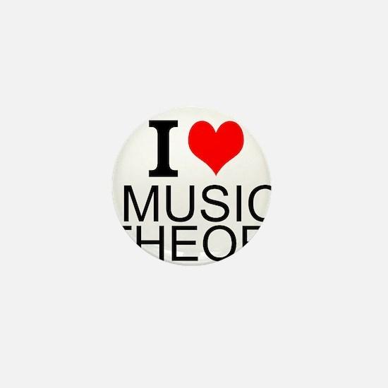 I Love Music Theory Mini Button