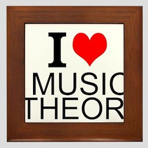 I Love Music Theory Framed Tile
