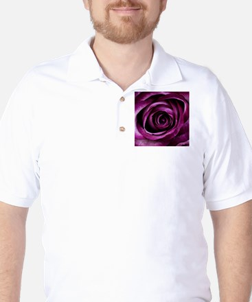 Purple Rose Golf Shirt