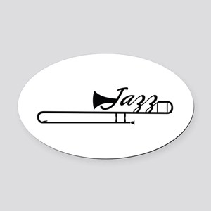 Jazz Oval Car Magnet