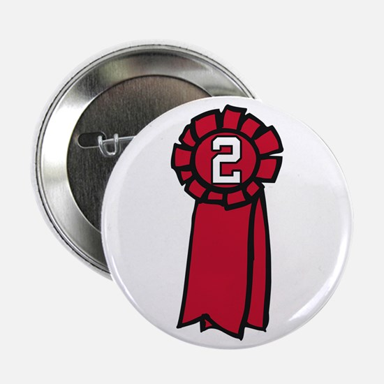 """Red Ribbon 2.25"""" Button"""