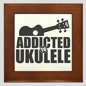 Addicted to Ukulele Framed Tile