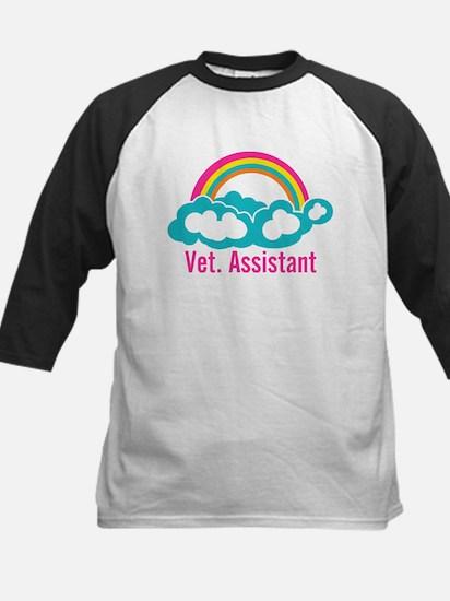 Rainbow Veterinary Assistant Kids Baseball Jersey