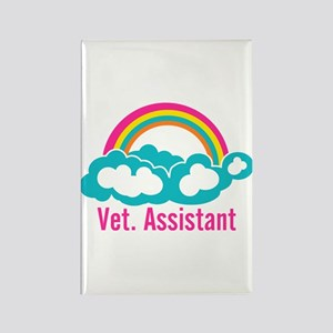 Rainbow Veterinary Assistant Rectangle Magnet