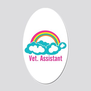 Rainbow Veterinary Assistant 20x12 Oval Wall Decal