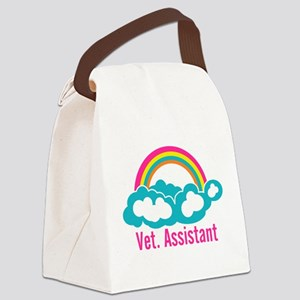 Rainbow Veterinary Assistant Canvas Lunch Bag