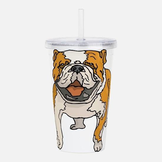 english-bulldog2.png Acrylic Double-wall Tumbler