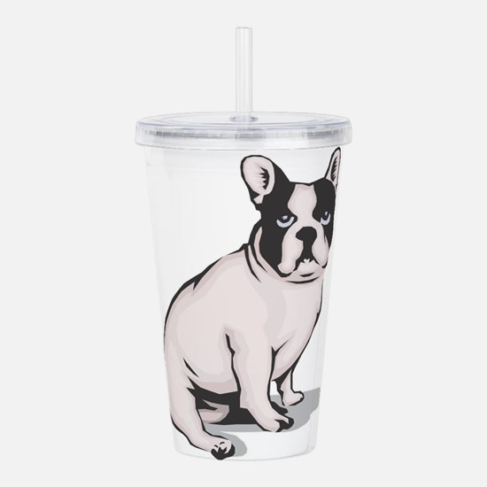 french-bulldog.png Acrylic Double-wall Tumbler
