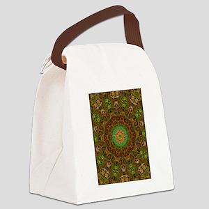 Colorful Modern Kaleidoscope Art Canvas Lunch Bag
