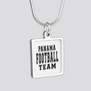 Panama Football Team Silver Square Necklace