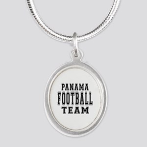 Panama Football Team Silver Oval Necklace