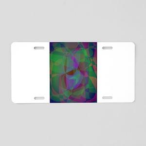 Translucent Layers Dark Green Abstract Aluminum Li