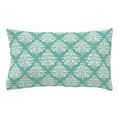 Damask green white Pillow Case