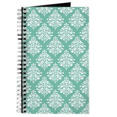 Damask green white Journal