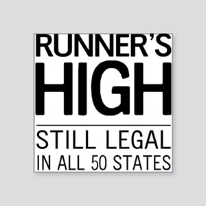 Runners high still legal Sticker