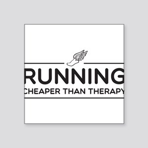 Running cheaper than therapy Sticker