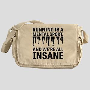 Running is a mental sport Messenger Bag