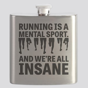 Running is a mental sport Flask