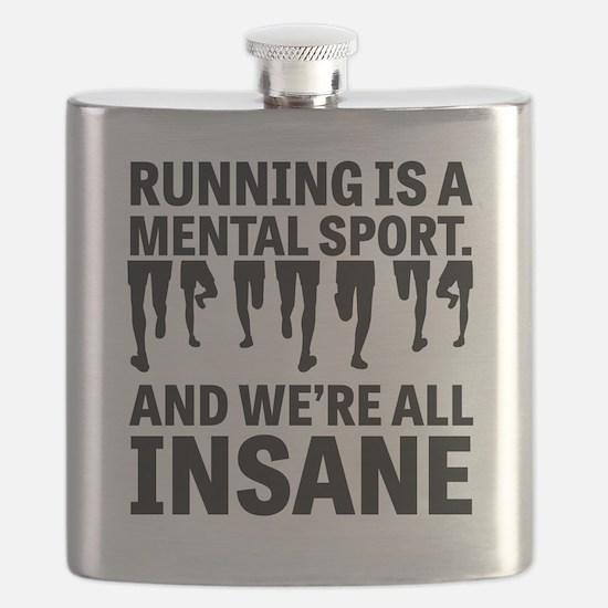 Running is a mental sport Flask