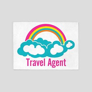 Rainbow Cloud Travel Agent 5'x7'Area Rug