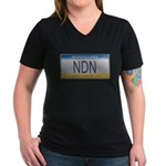 Pennsylvania NDN Pride Women's V-Neck Dark T-Shirt