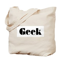 Geek Logo Bold Black Design Tote Bag