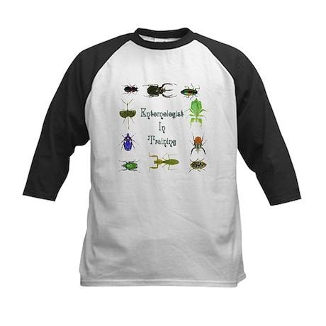 Entomologist In Training 2 Kids Baseball Jersey