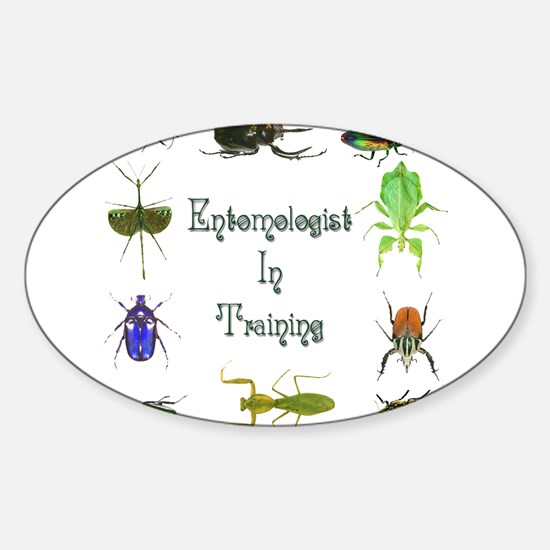 Entomologist In Training 2 Oval Decal