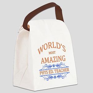 Phys. Ed. Teacher Canvas Lunch Bag