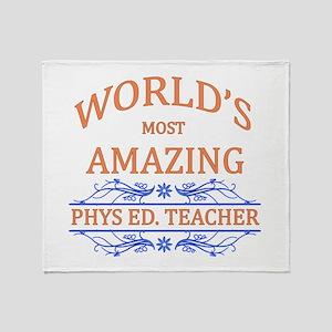 Phys. Ed. Teacher Throw Blanket