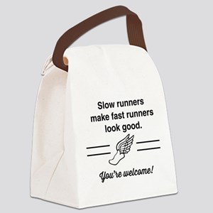 Slow runners make fast look good Canvas Lunch Bag