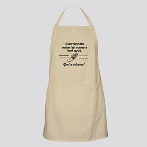 Slow runners make fast look good Apron
