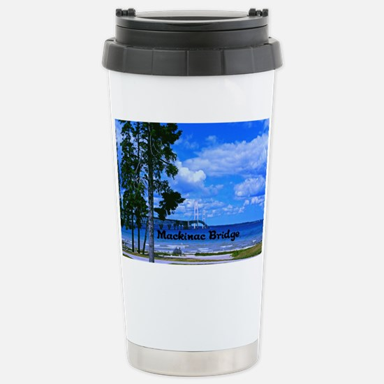 Mackinac Bridge Stainless Steel Travel Mug