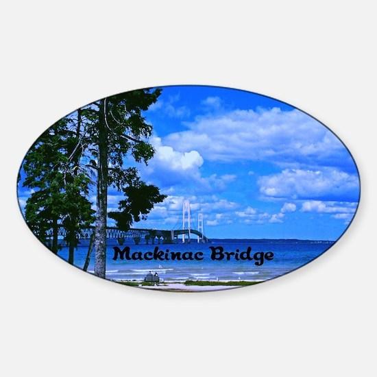 Mackinac Bridge Sticker (Oval)
