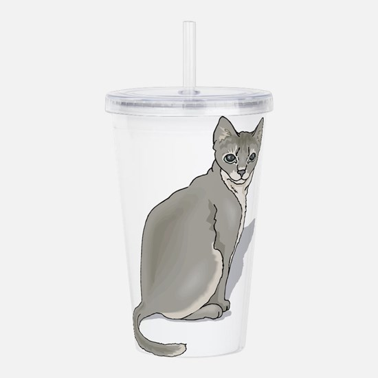 grey-kitten2,png.png Acrylic Double-wall Tumbler
