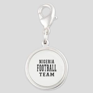 Nigeria Football Team Silver Round Charm