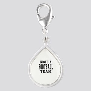 Nigeria Football Team Silver Teardrop Charm