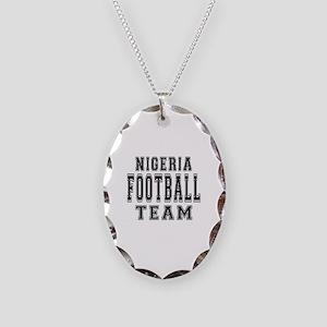 Nigeria Football Team Necklace Oval Charm