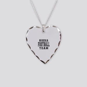 Nigeria Football Team Necklace Heart Charm