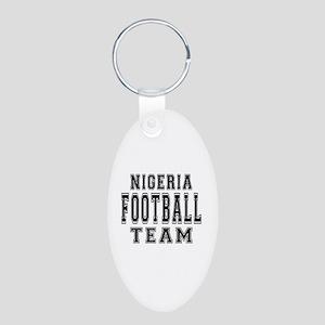Nigeria Football Team Aluminum Oval Keychain
