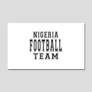 Nigeria Football Team Car Magnet 20 x 12